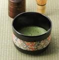 ■【抹茶椀】カネ高花模様抹茶碗