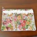 細かい織りのピンク・ゴブラン|フラットポーチL MULT 22×30