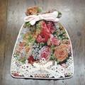 細かい織りのピンク・ゴブラン|サックポーチ MULT 16×20