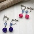 【均一SALE】薔薇モチーフのドロップイヤリング
