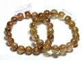 ☆高品質☆【天然石ブレスレット】オレンジキャッツアイルチルクォーツ (3A) (約10〜10.5mm) 天然石