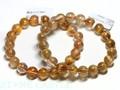 ☆高品質☆【天然石ブレスレット】オレンジキャッツアイルチルクォーツ (3A) (約9.5〜10mm) 天然石