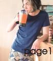 【年間定番企画】スタイリッシュなT/C素材の無地半袖Tシャツ  page1