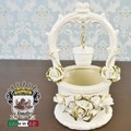 ★決算特価★イタリア陶器|Italia SONDA カプディモンテ 陶花金薔薇のWELL POT S