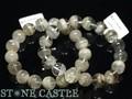 ☆高品質☆【天然石ブレスレット】ホワイトガーデンファントムクォーツ (5A) (約14〜14.5mm) 天然石