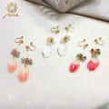 ★Lips2014年5月号掲載商品★【Notle】〜Natural Flower〜ローズノンホールピアス