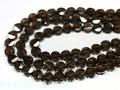 【天然石カットビーズ】スモーキークォーツ ヘキサゴンカット 10mm (数量限定商品) 天然石