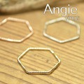 再入荷【Angie】3色展開。極細六角形 リング!シンプル&フェミニン ***