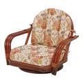 【直送可】【RATTAN CHAIR】回転座椅子 RZ-931(送料無料)