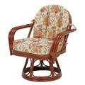 【直送可】【RATTAN CHAIR】回転座椅子 RZ-933(送料無料)