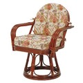 【直送可】【RATTAN CHAIR】回転座椅子 RZ-934(送料無料)