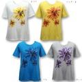 天竺チュニックTシャツUV対策素材【M〜L】【4色展開】花