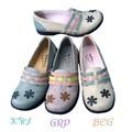 【春夏SALE】コロンとかわいいお花とギザギザベルトの靴<3色>