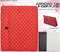 <タブレット用品>ARROWS Tab F-02F/FJT21(アローズ タブ)用キルティングレザースタンドケース
