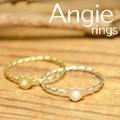 ***【Angie】2色展開。プチパール&ハート リング!シンプル&フェミニン!***
