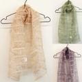 【透け感がエレガントなアジアンリゾート風刺繍】シルクアジアン刺繍スカーフ0269