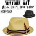 ★春夏♪ NEWYORK HAT#2145 STRIPE TOYO T-DROP  12168