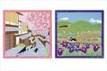 Cool Japan【インテリア雑貨】<たまのお散歩>タペストリーになる小風呂敷 (和柄/ネコ柄)【四季12柄展開】