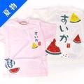 【SALE】【ベビー夏物】【56】☆和柄Tシャツ「すいか」☆ 【ベビー・キッズ用】