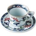 【ご返礼品やお祝品、ご自宅でも】 亮秀窯  鉄仙花紋 コーヒー碗皿