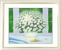インテリアアートポスター額付絵画「ヒラリーメイヤー作:窓辺の白い花 L」