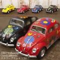 ダイキャストミニカー[Volkswagen Classical Beetle(1967) フラワープリント 1/32(M)]【ロット12台】