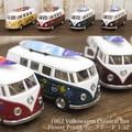 ダイキャストミニカー[Volkswagen Classical Bus (1962) Flower Print&サーフボード1/32(M)]【ロット12台】