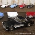ダイキャストミニカー(M)[Chevrolet Corvette (1957)] 1/34]【ロット12台】
