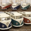 ダイキャストミニカー[Volkswagen Classical Bus (1962) 1/24(L)]【ロット6台】