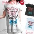 【ブランドPHARD★SALE】カジュアル ロゴ プリント フレア Tシャツ◇CINAKEY