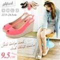【赤字覚悟!!夏物大放出SALE】◆ジュートウェッジオープントゥサンダル/靴/雑貨◆418737