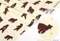 【生地】【布】【WALK THROUGH THE FOREST-grizzly bear 】デザインファブリック★50cm単位でカット販売