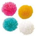 ペーパーぽんぽんS 4個セット フラワーボール 【インテリア】【パーティー】