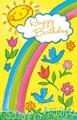 Stockwell Greetings グリーティングカード バースデー <虹・フラワー・鳥・太陽>