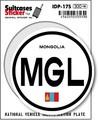IDP-17S/モンゴル(MONGOLIA)/国際識別記号ステッカー/スーツケースステッカー 機材ケースにも!