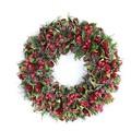 <<クリスマスリース>>★■X'mas/  Needle & Small pinecone Wreath (Red)
