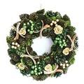 <<クリスマスリース>>★■X'mas/  Wreath-Gold rose & Green berry