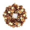 <<クリスマスLEDリース>>★■X'mas/  LED Wreath-Bloom pinecone