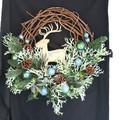 <<クリスマスリース>>★■X'mas/  Deer w/Peacock Ball Wreath