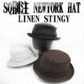 SQUALL別注 NEWYORK HAT#3053-L LINEN STINGY  11867