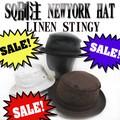 ★春夏セール♪SQUALL別注 NEWYORK HAT#3053-L LINEN STINGY  11867