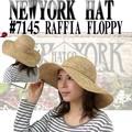 ★春夏セール♪【ニューヨークハット】 #7145 RAFFIA FLOPPY 12159