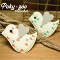 【 Poky-zoo 】鳥バード  クッション ブローチ。2色展開!北欧テイスト***