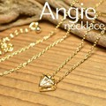 再入荷【Angie】ブリリアント ゴールド ネックレス!シンプル&フェミニン!***