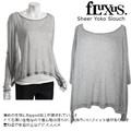 【Fluxing/Fluxus】 Sheer Yoko Slouch