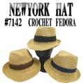 【春夏新作】 NWEYORKA HAT #7142 CROCHET FEDORA 12155