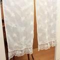 オーガンジー刺繍ローズブランシュシリーズ ロングのれん【SALE】
