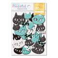 【Pieceful Selection】コラージュシール スポンジ ネコ ネコ