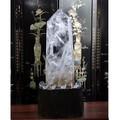 高級1点 天然透明水晶ポイント六角柱&透明水晶丸玉 置物 【FOREST 天然石 パワーストーン】