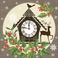 Paw Decor  Collection ペーパーナプキン クリスマス <時計×トナカイ>